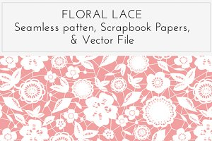 Floral Lace Overlay, Pattern, Vector