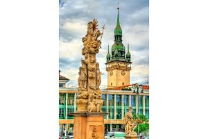 Holy trinity column in Brno, Czech Republic