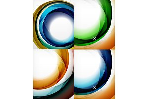 Collection of circle abstract backgrounds
