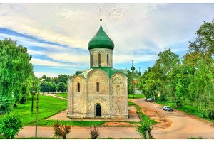 Transfiguration Cathedral in Kremlin of Pereslavl-Zalessky, Russia
