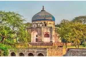Neela Gumbad structure near Humayun's Tomb in Delhi, India