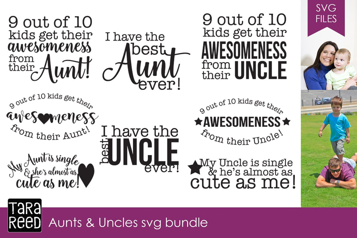 save up to 80% to buy good selling Aunts and Uncles SVG Bundle ~ Illustrations ~ Creative Market