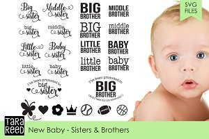 New Baby - Sisters and Brothers SVG