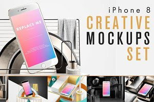 iPhone 8 Creative Mockups Set