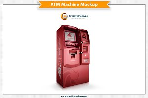 ATM Machine Psd Mockup