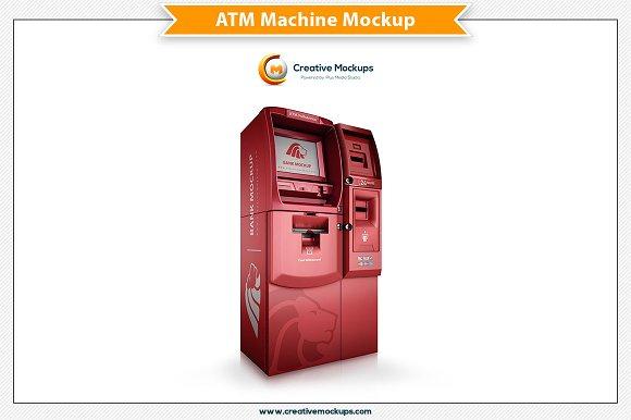 ATM Machine Psd Mockup