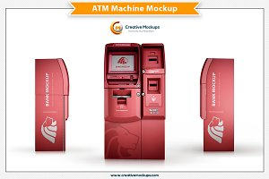 ATM Machine Mockup Template