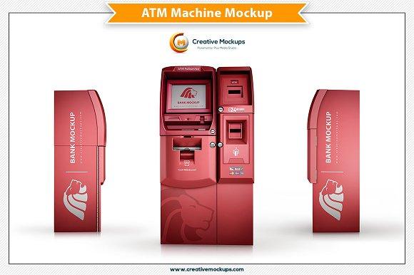 ATM Machine Mockup Template