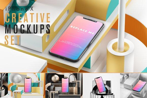 IPhone X Creative Mockups Set