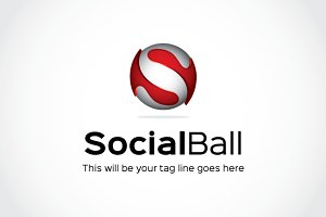 Social Ball Logo Template