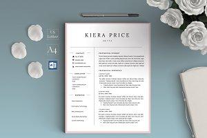 Word CV Resume - Kiera