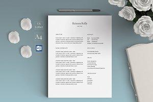 Simple Minimalist Resume Template/CV