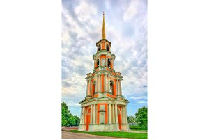 Bell tower of Ryazan Kremlin in Russia