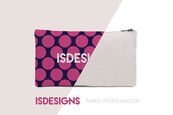 Fabric Pouch Mockup