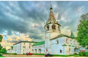 View of the Kremlin in Suzdal, a UNESCO heritage site in Russia