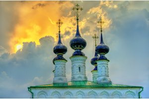 Church of the Entry of Christ in Jerusalem in Suzdal, Russia