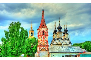 St. Antipas and St Lazarus churches in Suzdal, Russia