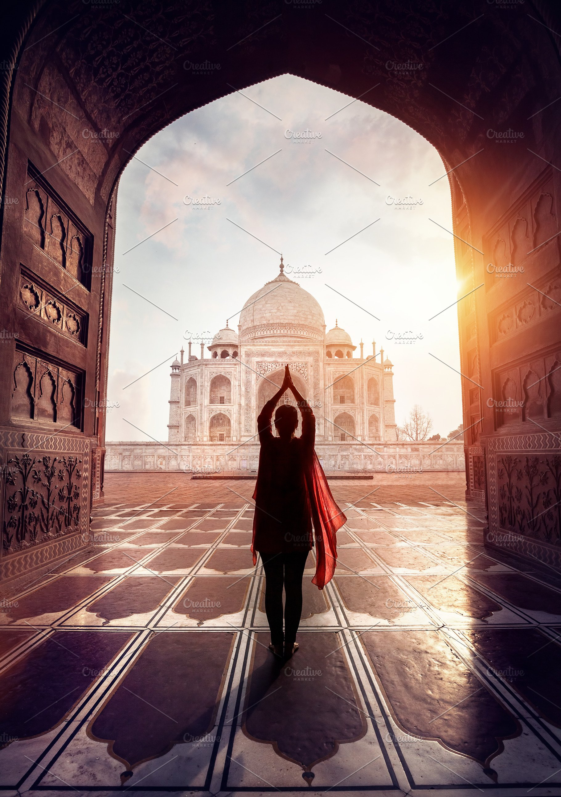 Yoga In Taj Mahal