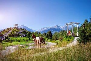 Park in Almaty city