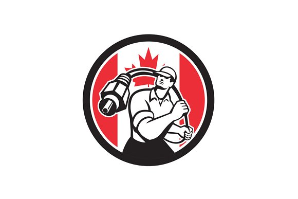 Canadian Cable Installer Canada Flag