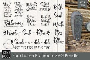 Farmhouse Bathroom SVG Bundle