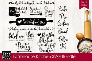 Farmhouse Kitchen SVG Bundle