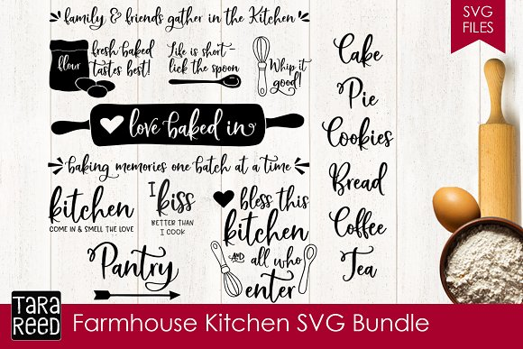 Farmhouse Kitchen SVG Bundle