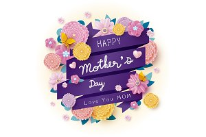 Happy mother's day design
