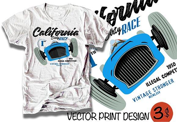 Vector Car Print