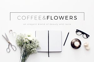 Coffee & Flowers Header Image Bundle