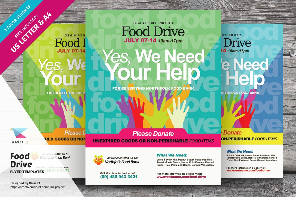 Free Food Drive Flyer Template from images.creativemarket.com