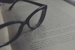 Glasses on a book 1