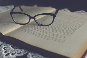 Glasses on a book 2