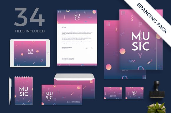 Branding Pack Music Party