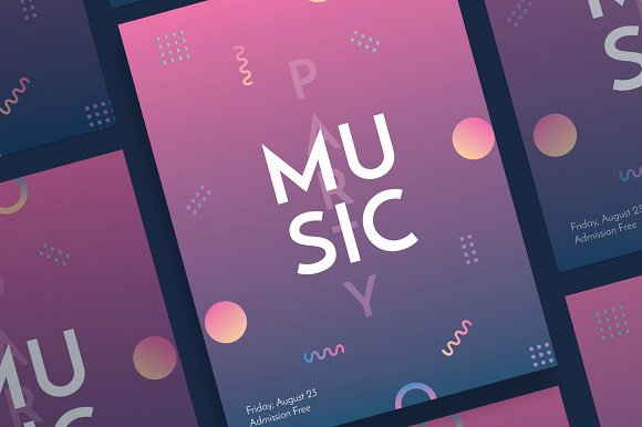 Posters Music Party