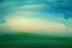 watercolor painted landscape