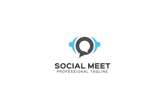 Social Meet Logo Template