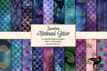 Mermaid Glitter Patterns