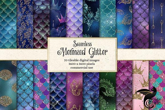 Mermaid Glitter Patterns