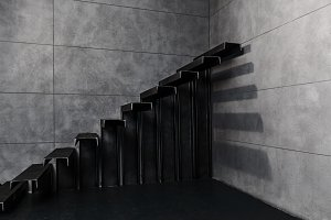 metal staircase for design