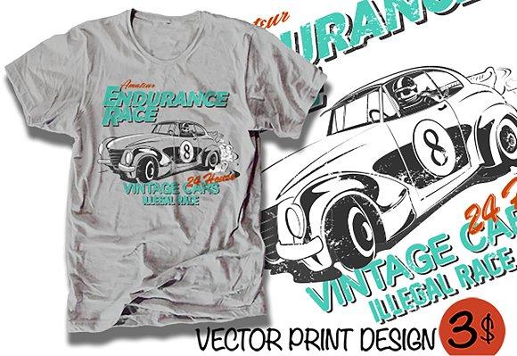 Vector Racing Car Illustration