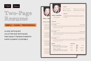 Two-Page Resume | Sandcat