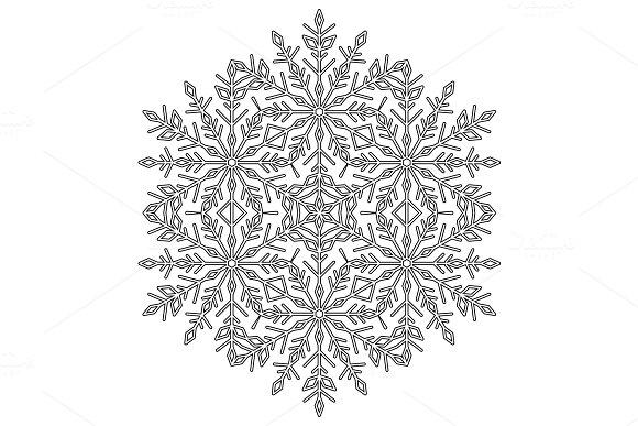 Pretty Vector Round Snowflake