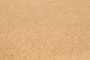 Flat and empty sand surface