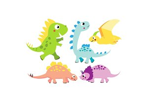 Cute dinos. Cartoon Dinosaur