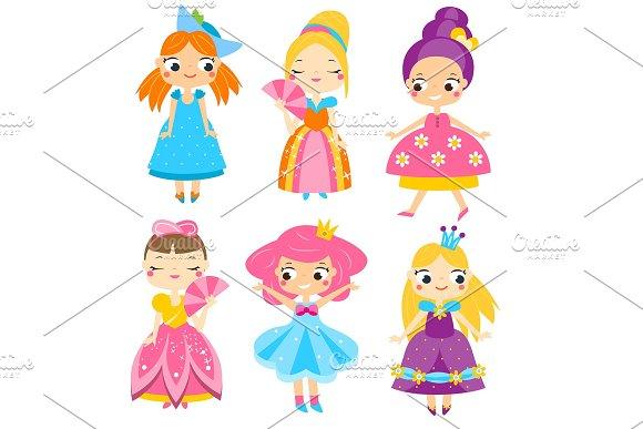 Cute Cartoon Princesses