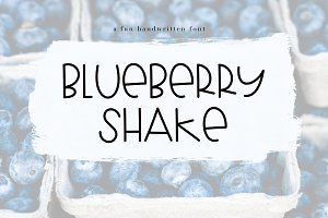 Blueberry Shake - A Fun Font