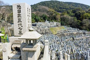 Old buddhist cemetery in Japan