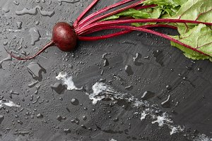 Fresh harvested beetroot