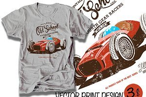 vector racing car illustration